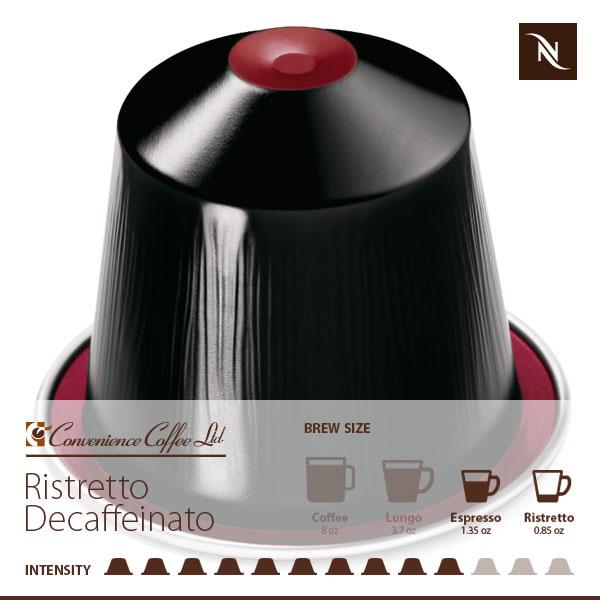 RISTRETTO DECAFFEINATO capsules from Nespresso  cocobm from Convenience Cof -> Nespresso Ristretto