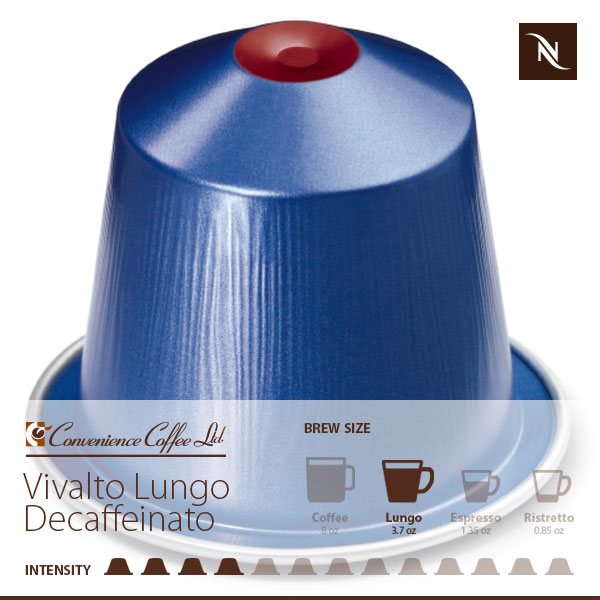 vivalto lungo decaffeinato capsules from nespresso coco. Black Bedroom Furniture Sets. Home Design Ideas